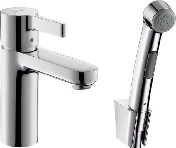 Смеситель Hansgrohe Metris S 31160000 для раковины с гигиеническим душем
