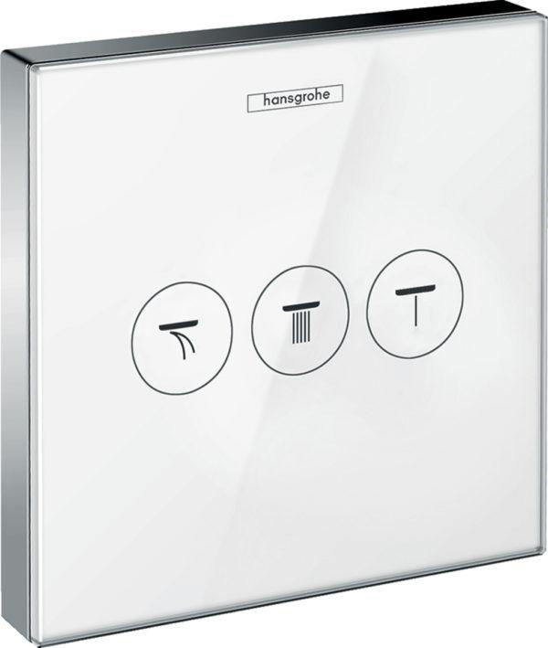 Переключатель потоков Hansgrohe ShowerSelect 15736400 на три потребителя, белый