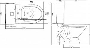 Унитаз-компакт Santek Лига WH302141 косой выпуск