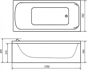 Акриловая ванна Triton Стандарт 170x70 см