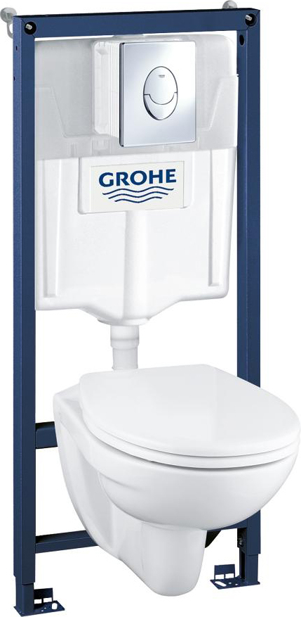 Комплект Grohe Solido 39192000 подвесной унитаз + инсталляция + кнопка