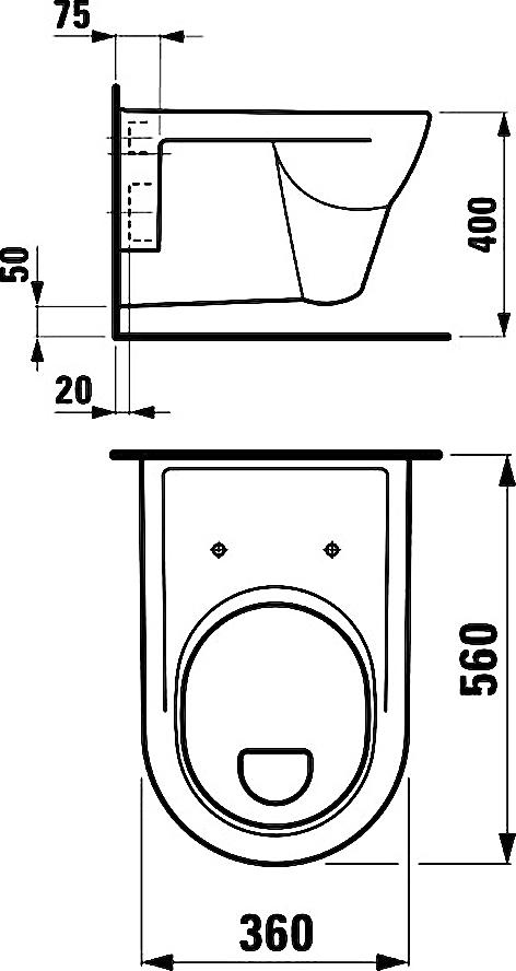 Унитаз подвесной Laufen Pro 2095.1.000.000.1 с полочкой