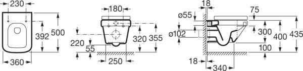 Унитаз подвесной Roca Dama-N 346788000