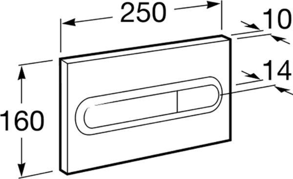 Комплект Roca Gap 34647L000 с кнопкой смыва