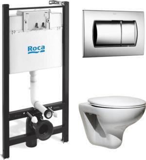 Комплект Roca Mateo 7893100010 подвесной унитаз + инсталляция + кнопка