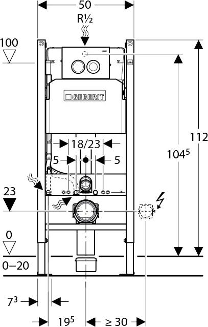 Комплект Roca Meridian 346248000 укороченный