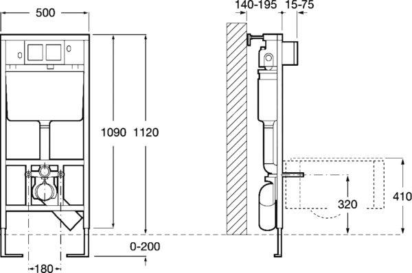 Комплект Roca Victoria 34630300R с крышкой-сиденьем + Инсталляция + Кнопка смыва