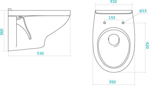 Унитаз подвесной Santek Бореаль 1WH302205 сиденье дюропласт, с микролифтом