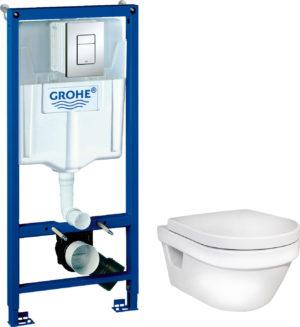 Комплект Gustavsberg Hygienic Flush WWC 5G84HR01 безободковый