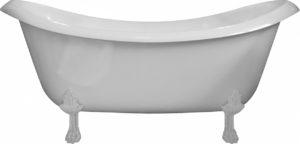 Ванна из искусственного камня AquaStone Лиона ножки белые