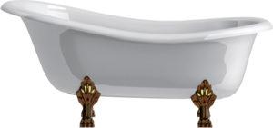 Ванна из искусственного камня Астра-Форм Роксбург ножки бронза