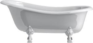 Ванна из искусственного камня Астра-Форм Роксбург ножки белые