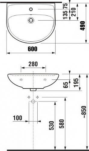 Раковина Jika Lyra Plus 60 1438.3