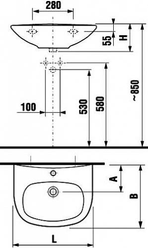 Раковина Jika Zeta 60 1039.2