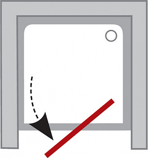Душевая дверь в нишу Ravak PDOP2-100 профиль сатин