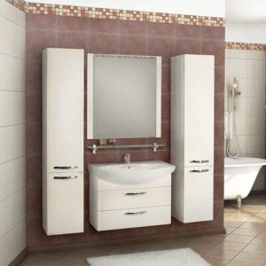 Мебель для ванной Акватон Ария М 80 белая
