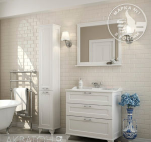 Мебель для ванной Акватон Леон 65Н дуб белый